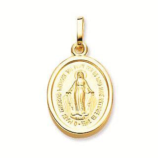 Gouden Maria Ovaal Gladde rand 14 mm 247.0021.14