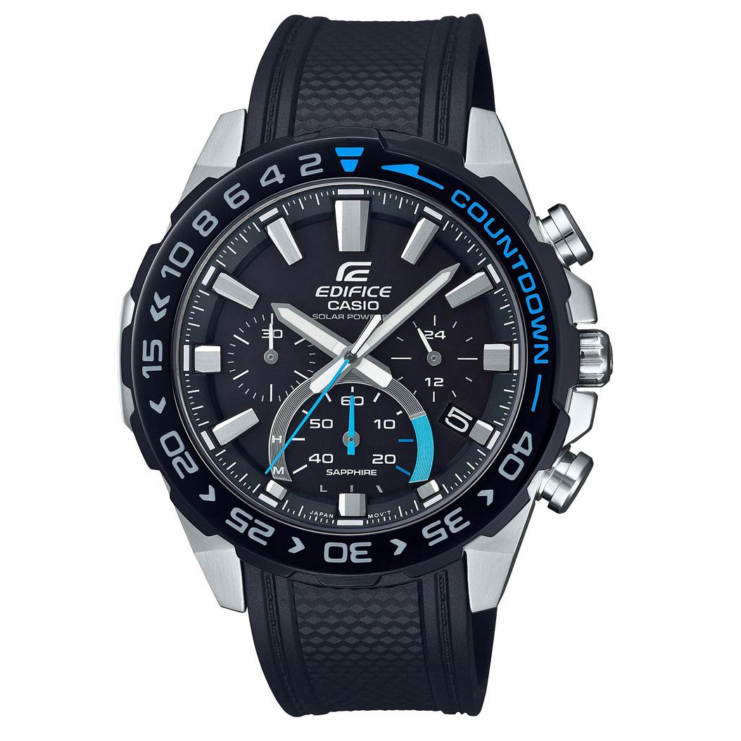 Casio Edifice EFS S550PB 1AVUEF Premium Horloge Chronograaf, Solar 47 mm