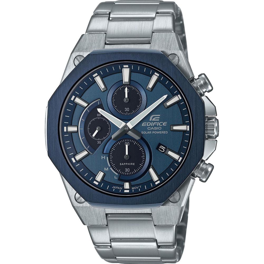 Casio Edifice EFS S570DB 2AUEF Horloge Chronograaf, Solar 44 mm