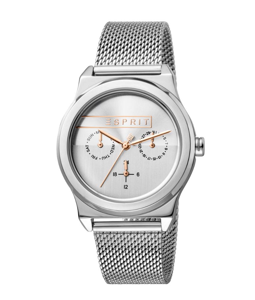 Esprit ES1L077M0045 Horloge Magnolia Mesh 34 mm zilverkleurig