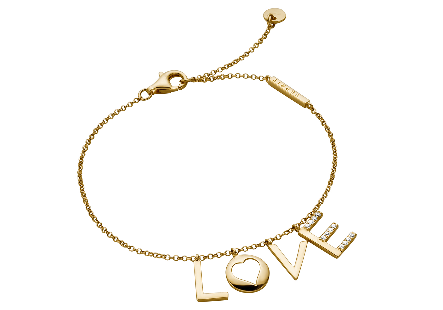 Esprit Armband Amory zilver goudkleurig 18-21 cm ESBR00231218
