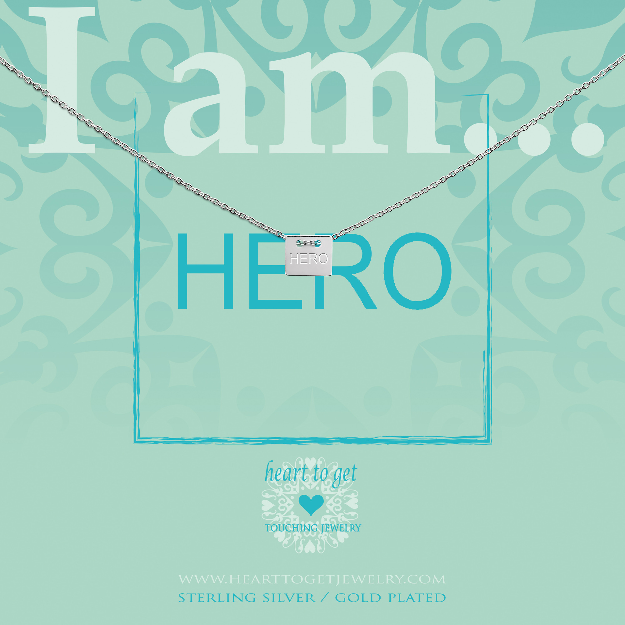 Heart to get IAM415N-HERO-S hero ketting zilver