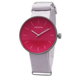 Prisma Unisex-horloge Simpel P.1251.34WG Roze wijzerplaat Nato