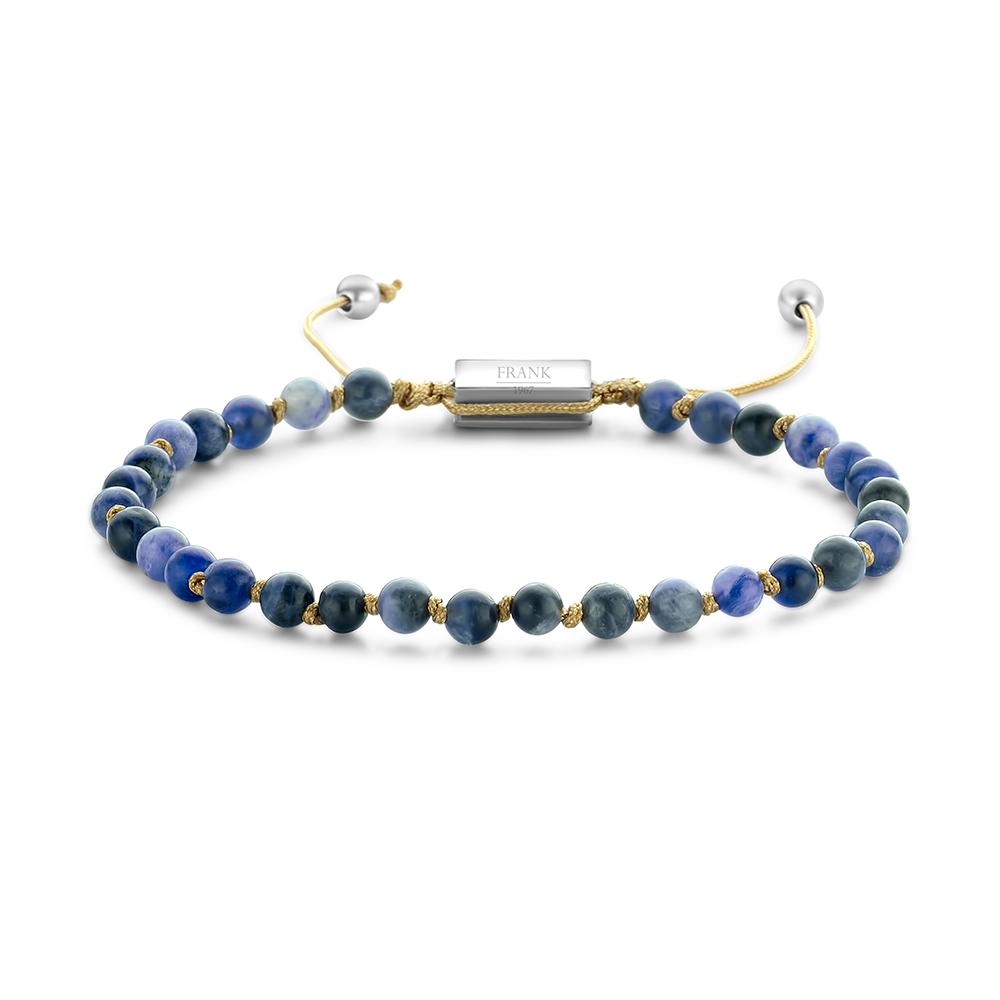 Frank 1967 Beads 7FB 0365 Natuurstenen armband One-size 4 mm Blauw