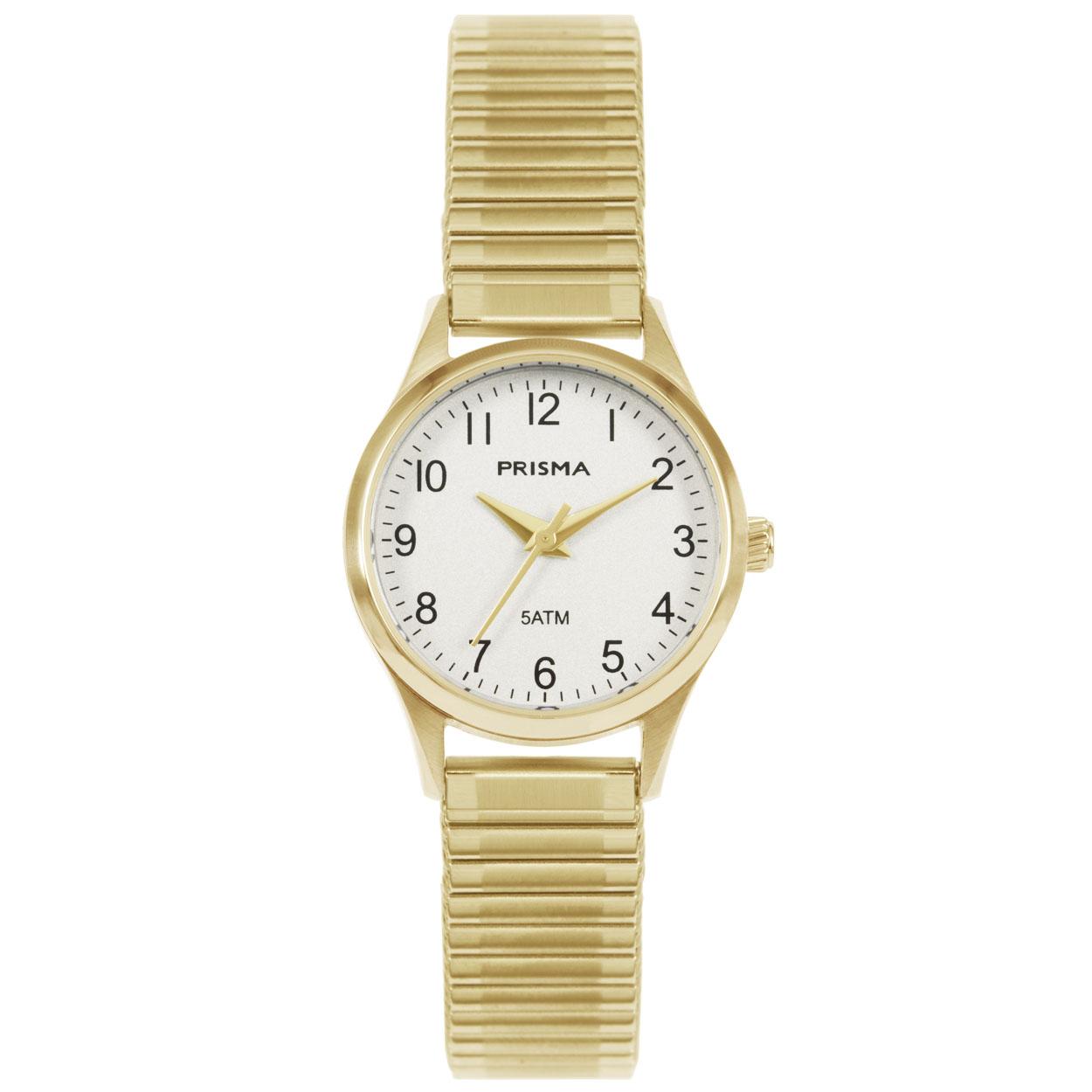 Prisma P.1172 Horloge Rekband staal goudkleurig 25 mm