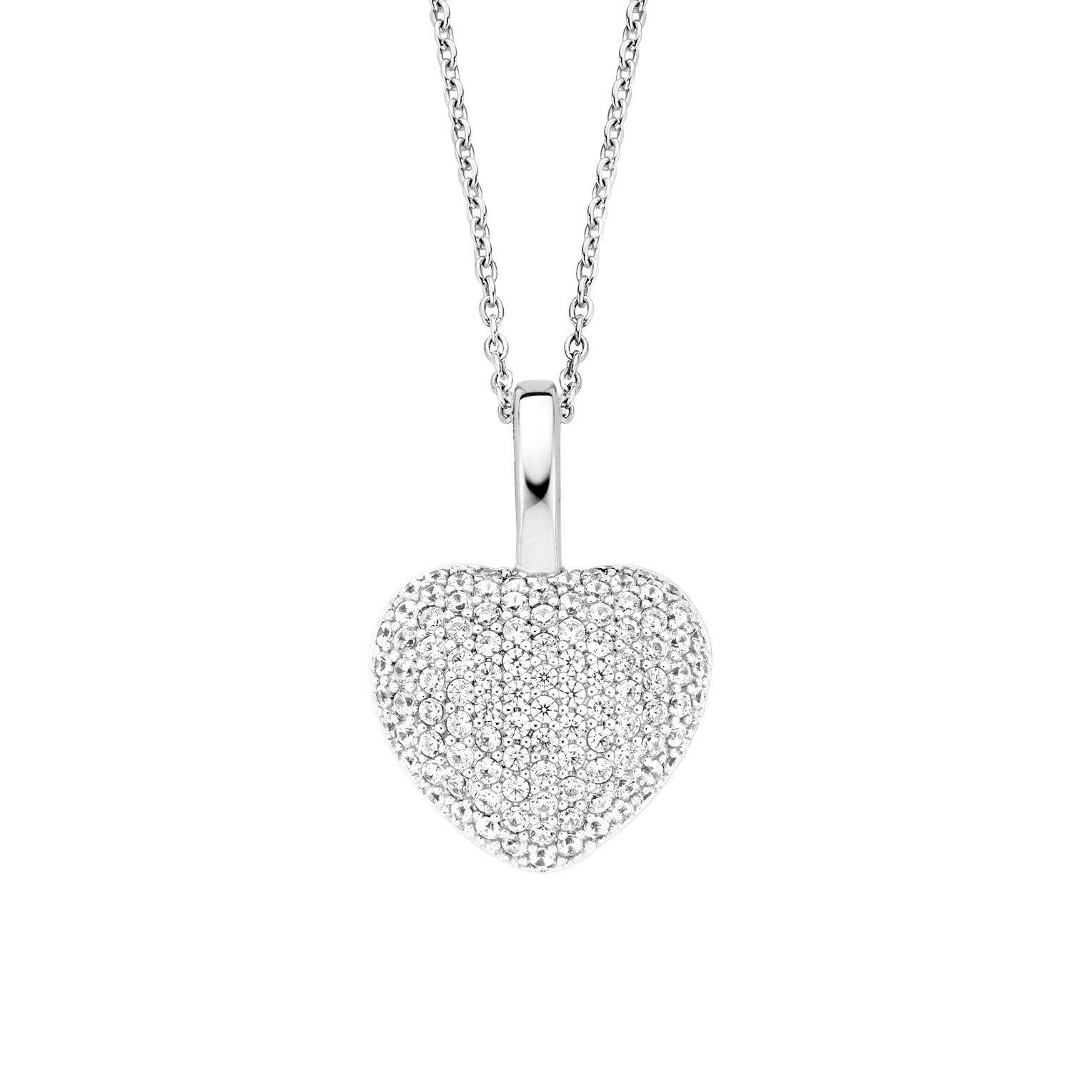 TI SENTO - Milano 6745ZI Ketting Hart zilver met zirconia 42-45 cm