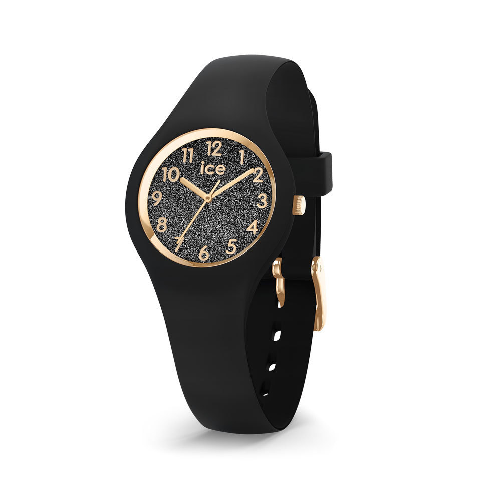 Ice-Watch IW015347 ICE Glitter Black Numbers Extra small 28 mm horloge