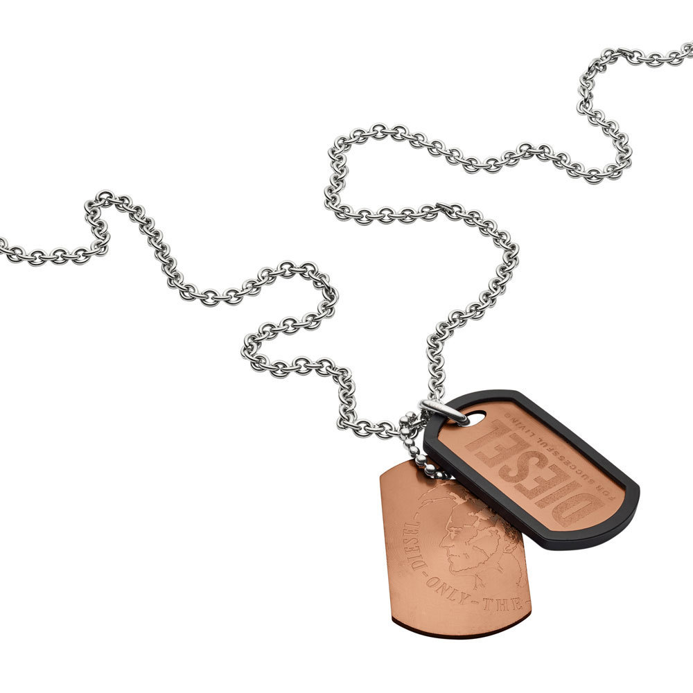 Diesel DX1096040 Ketting Double Dogstags staal 60-65 cm