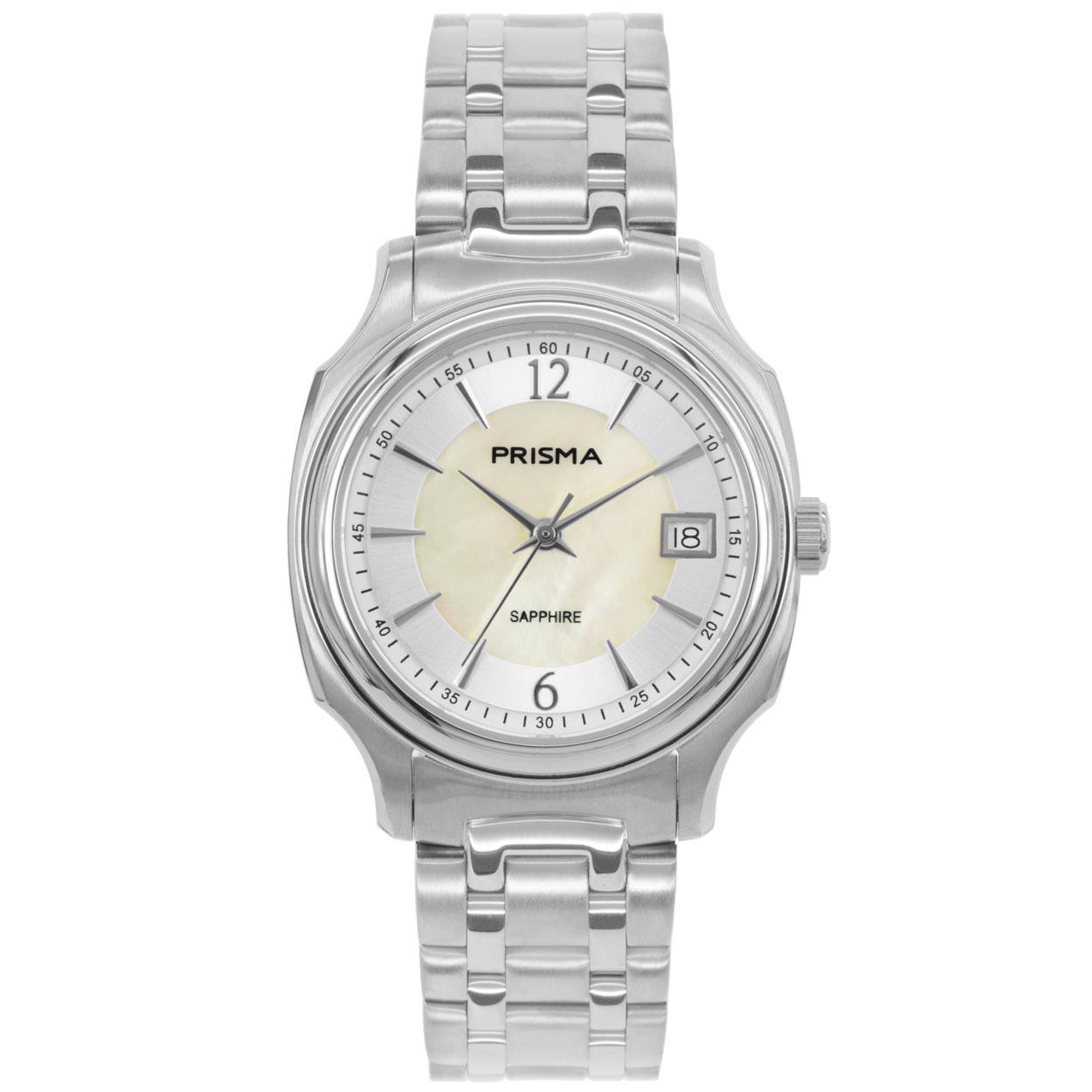 Prisma P.1135 Horloge staal zilverkleurig/parelmoer 33 mm