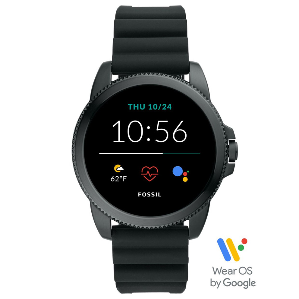 Fossil FTW4047 Gen. 5E Sport Smartwatch siliconen band 42 mm