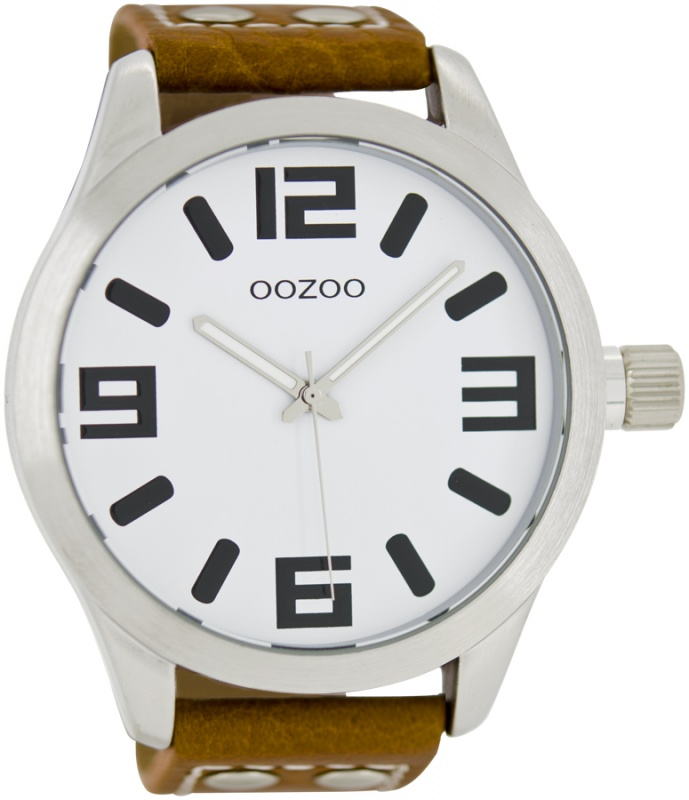 OOZOO C1001 Horloge Timepieces Collection 51 mm cognac