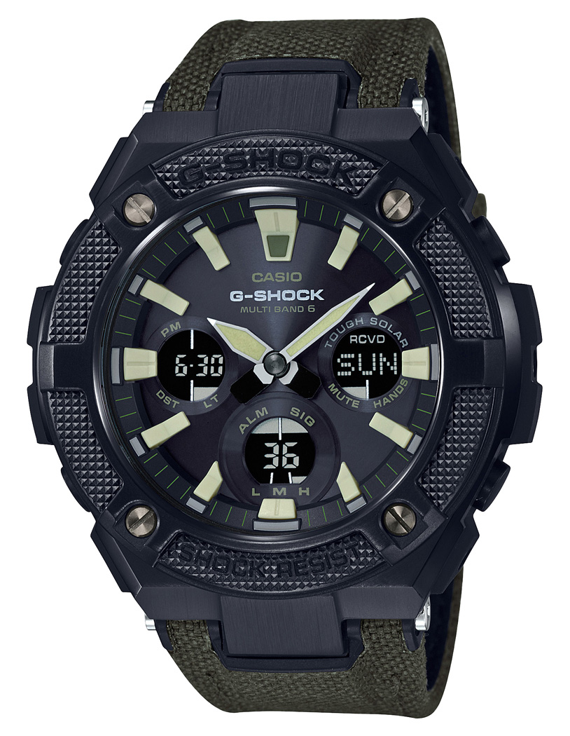 Casio G Shock GST W130BC 1A3ER Steel and Leather 52 mm