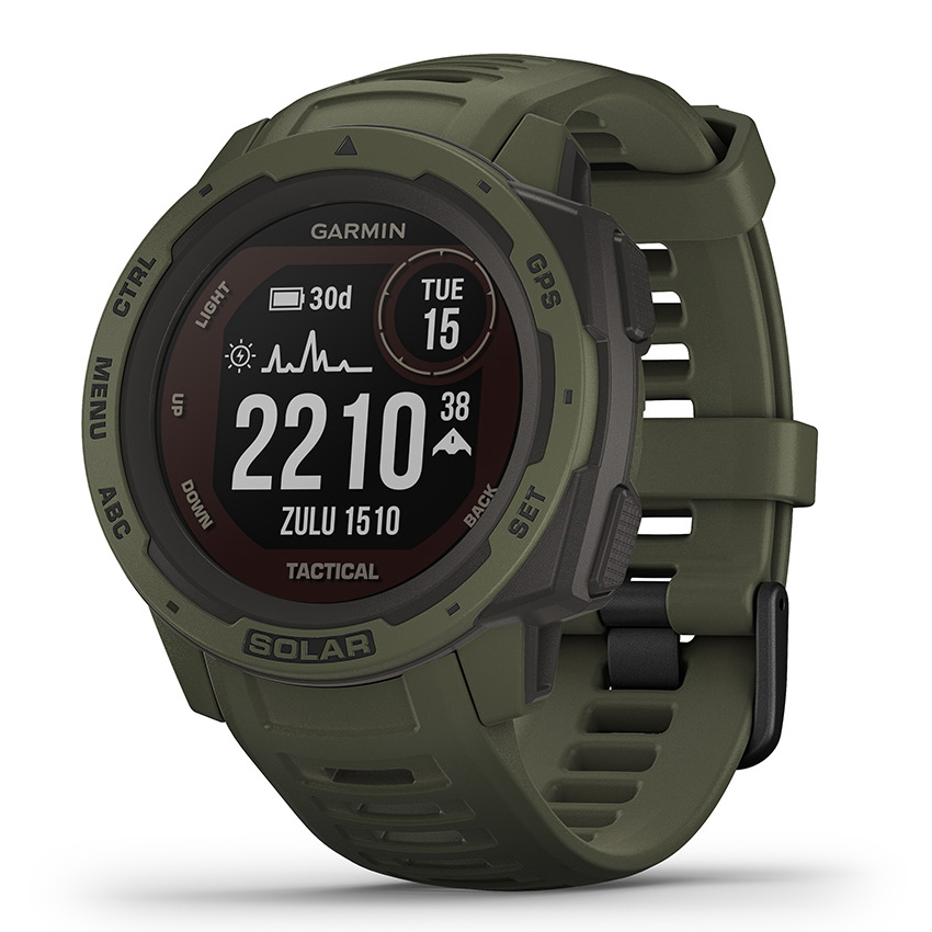 Garmin 010-02293-04 Instinct Smartwatch Solar Tactical Moss 45 mm
