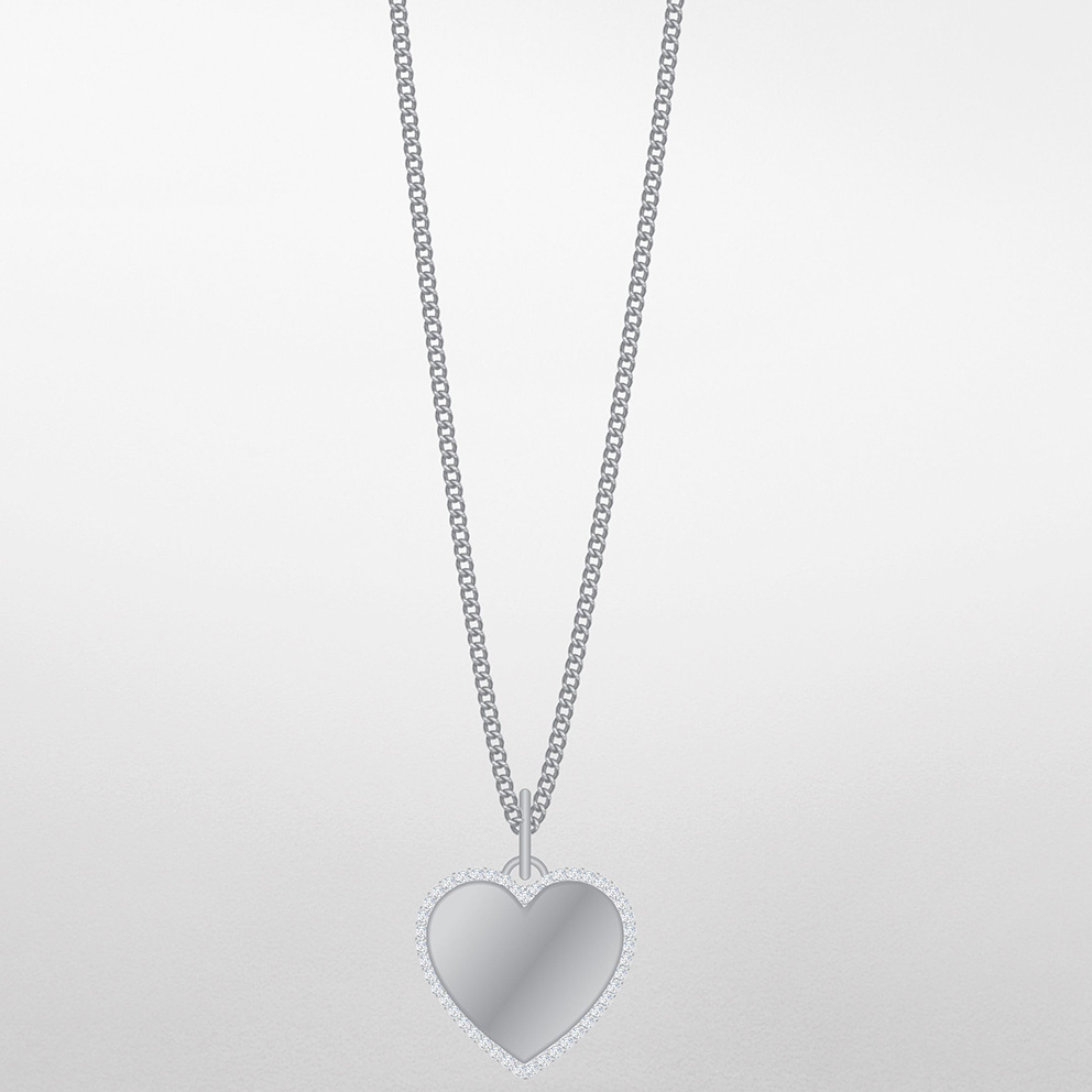 Fossil JF03641040 Ketting Vintage Iconic Be Mine staal zilverkleurig 45-50 cm