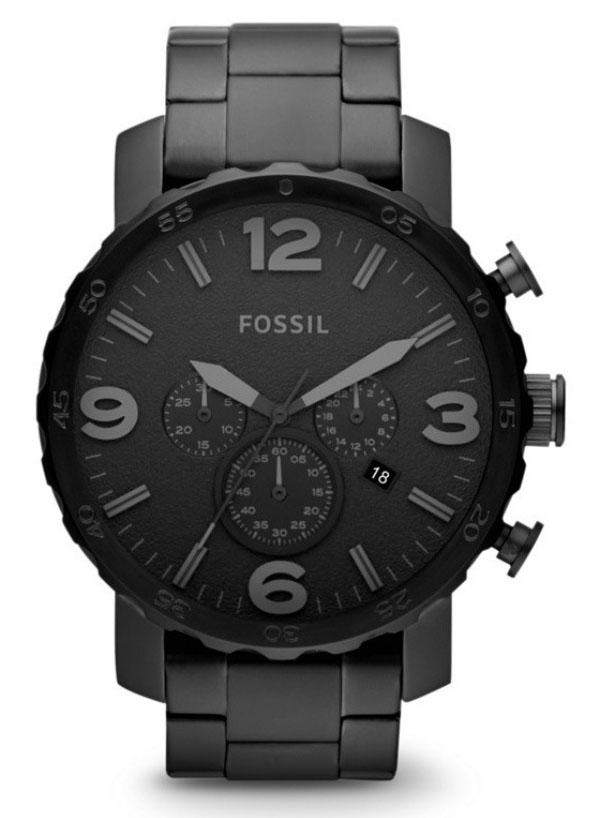 Fossil JR1401 Herenhorloge Nate Chronograaf