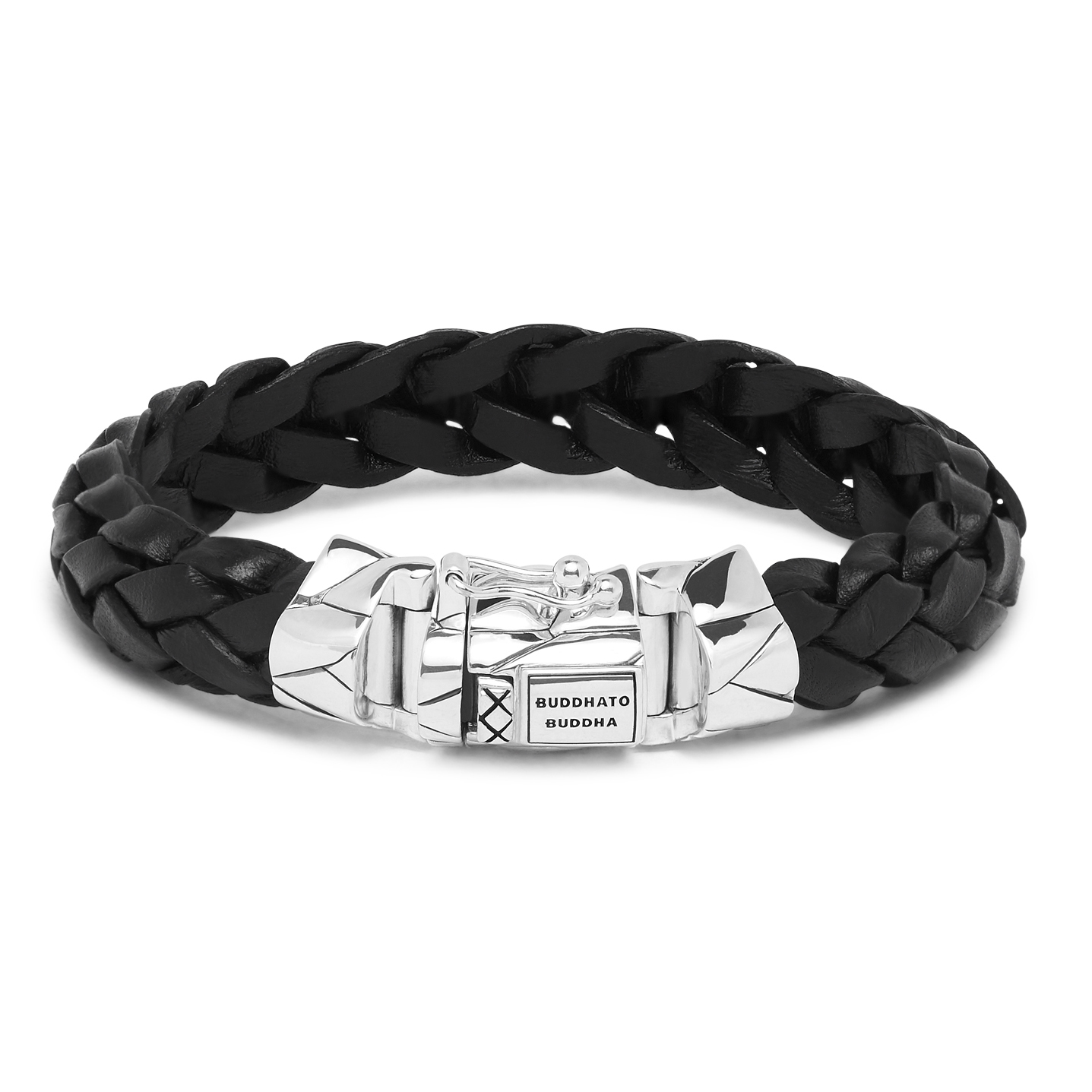 Buddha to Buddha 127BL Armband Mangky leder zwart (E) 19 cm