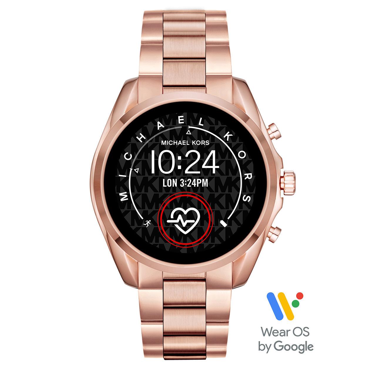 Michael Kors MKT5086 Access Bradshow Gen 5 Display Smartwatch rosekleurig 45 mm