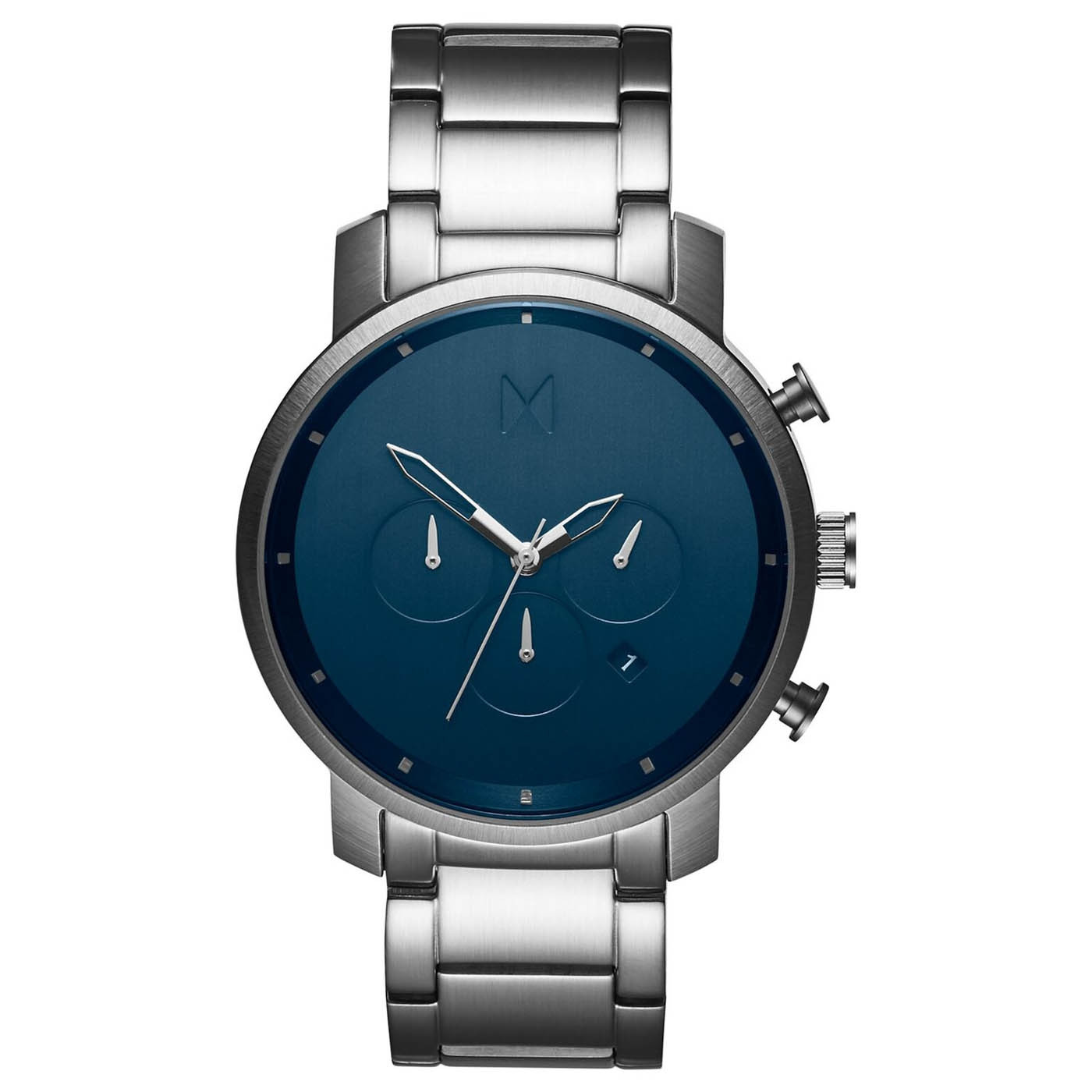 MVMT D-MC01-SBLU Horloge Chrono Midnight Silver 45 mm
