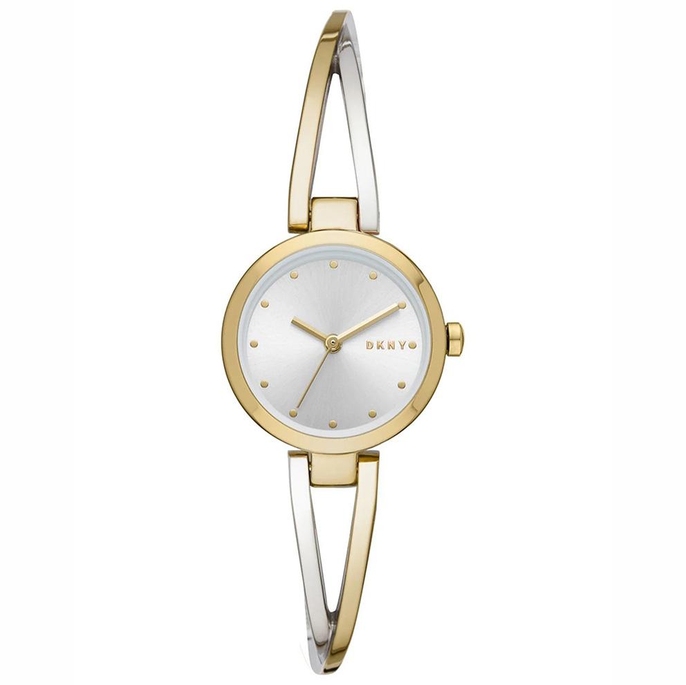 DKNY NY2790 Horloge Crosswalk staal zilver- en goudkleurig 26 mm