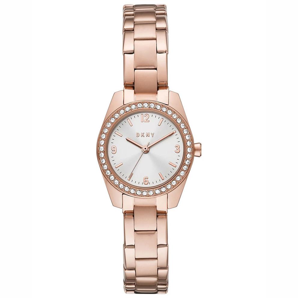 DKNY NY2921 Horloge Nolita staal rosekleurig 26 mm