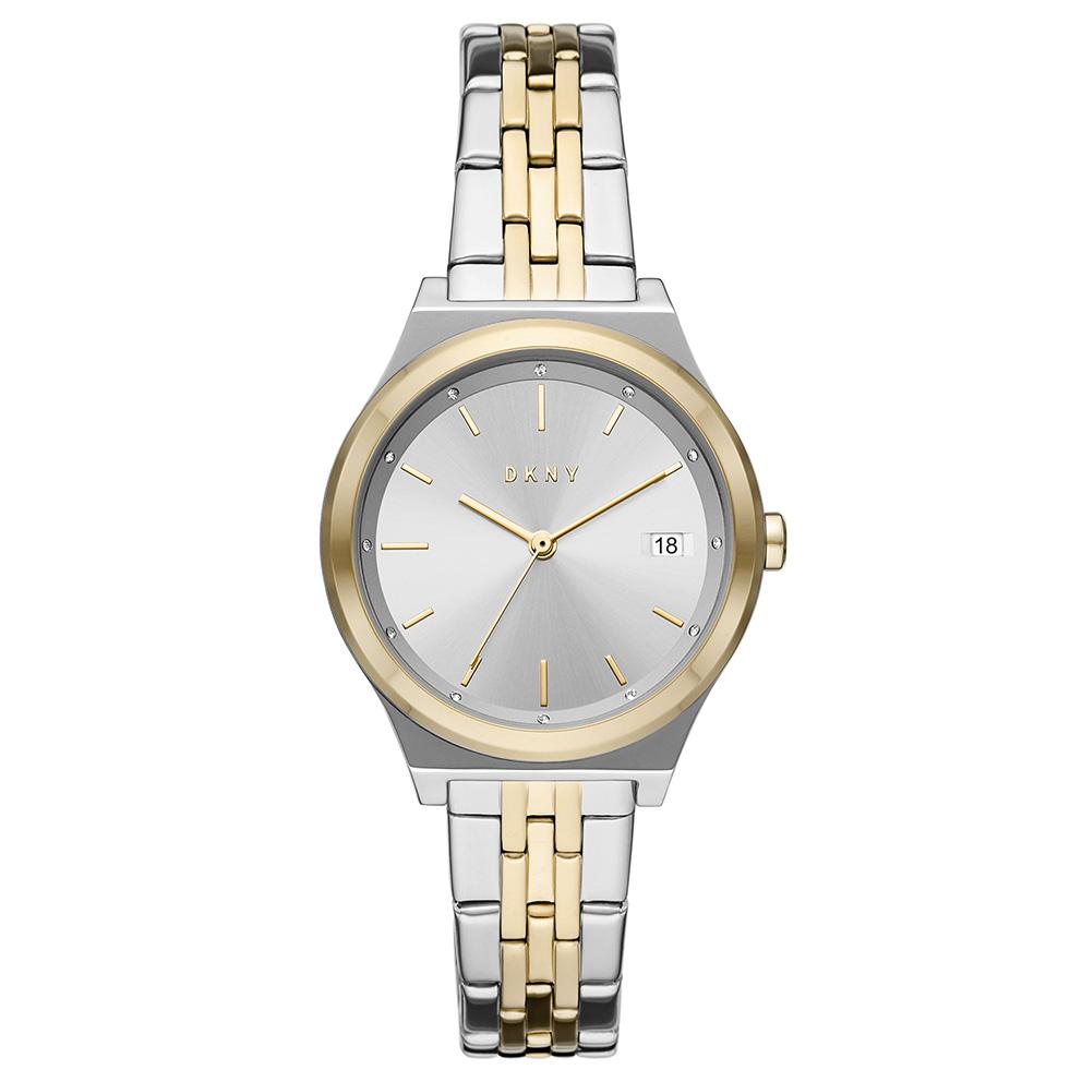 DKNY NY2948 Horloge Parsons staal zilver-en goudkleurig 34 mm