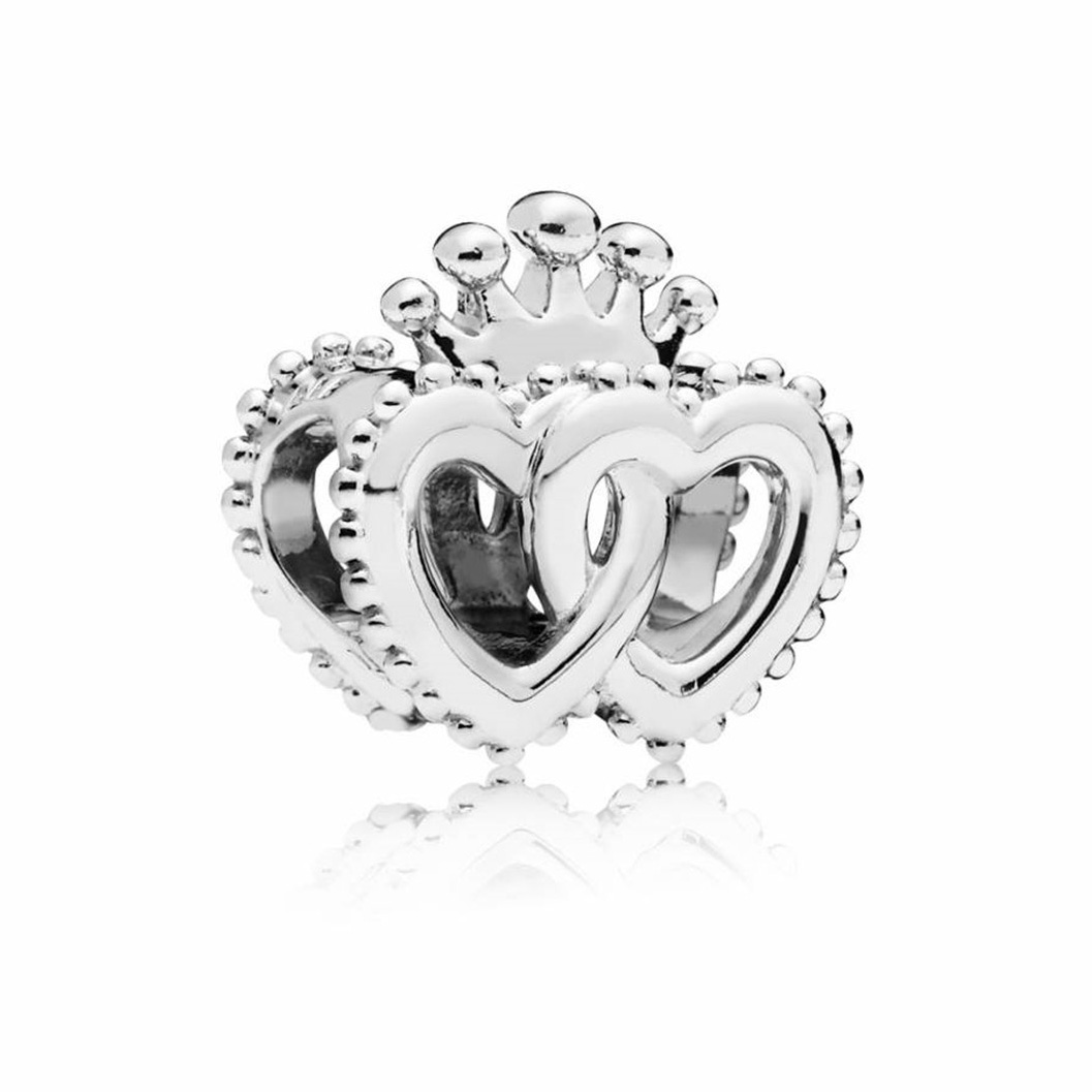 Pandora Bedel zilver United Regal Hearts 797670