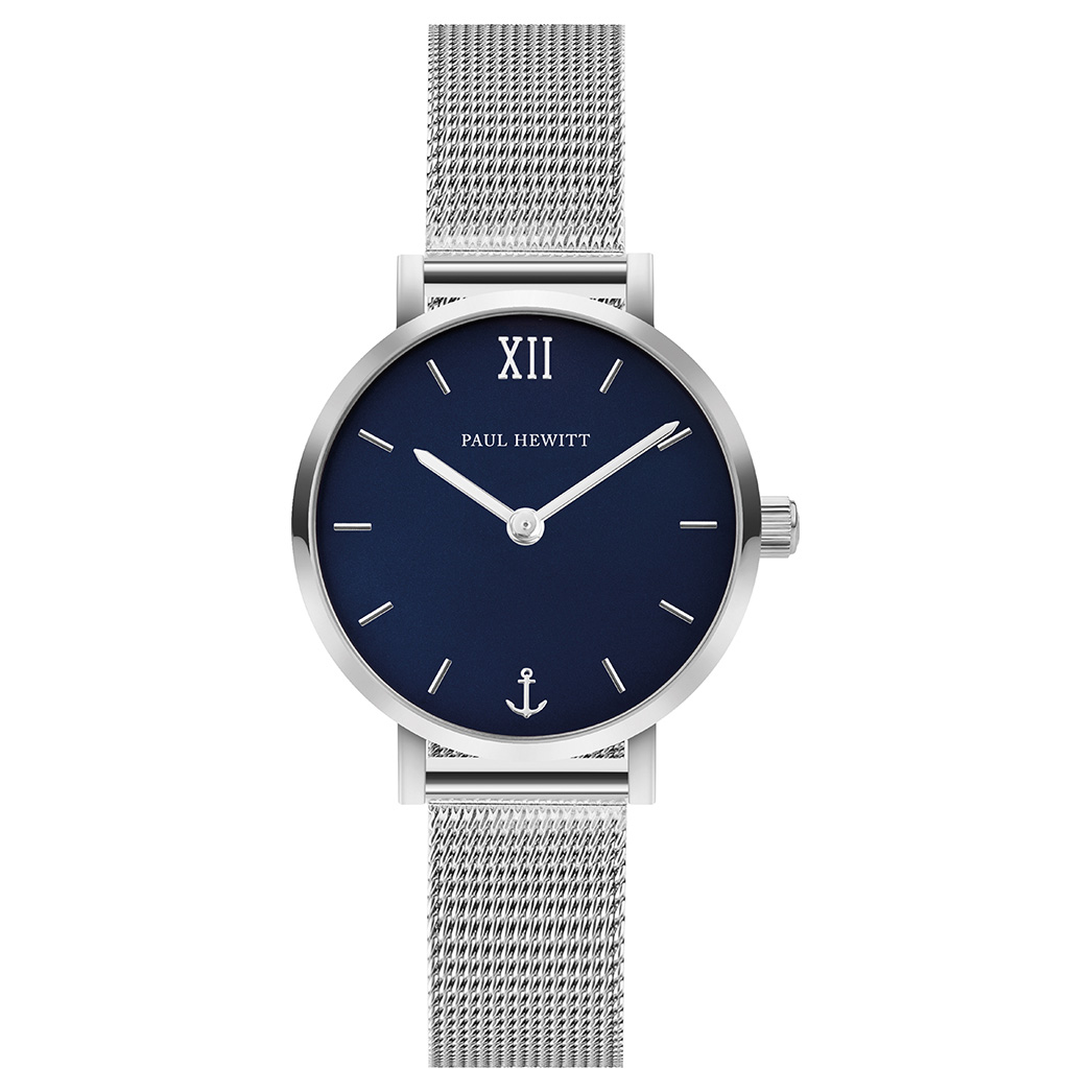 Paul Hewitt PH-SA-S-XS-B-45S Horloge Sailor Line Modest Blue Lagoon zilverkleurig-blauw 28 mm