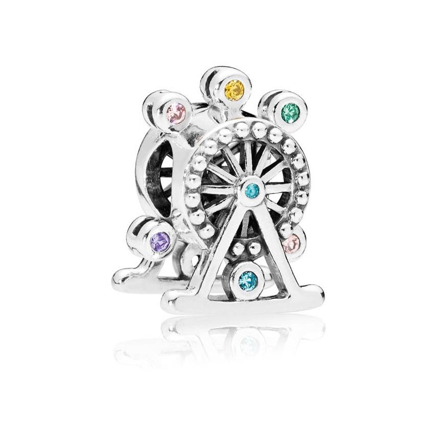 Pandora 797199NLCMX bedel Kleurrijk Reuzenrad zilver