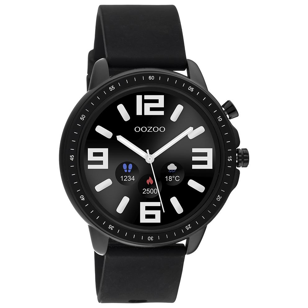 OOZOO Q00304 Smartwatch Staal Rubber zwart 45 mm