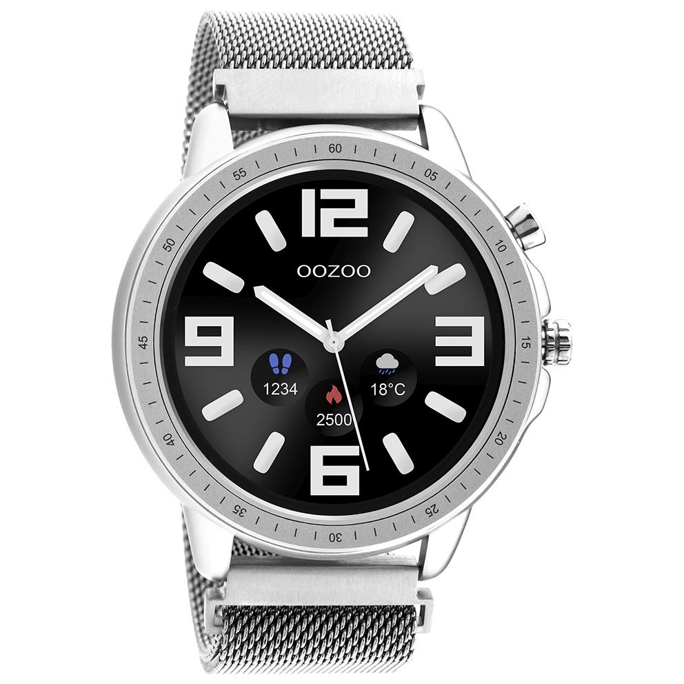 OOZOO Q00305 Smartwatch Mesh Staal zilverkleurig 45 mm