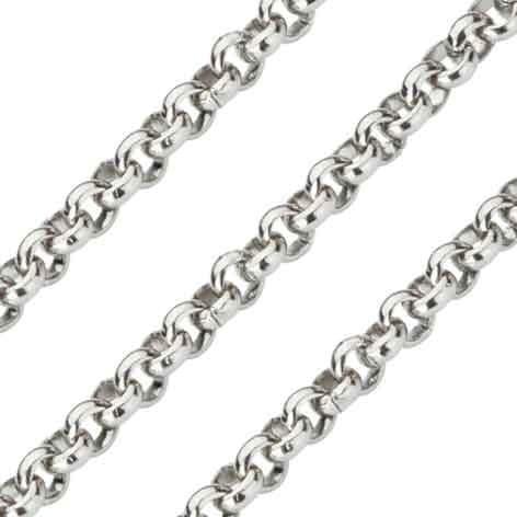 Quoins QK-EN Ketting staal zilverkleurig Jasseron 2,3 mm 80 cm