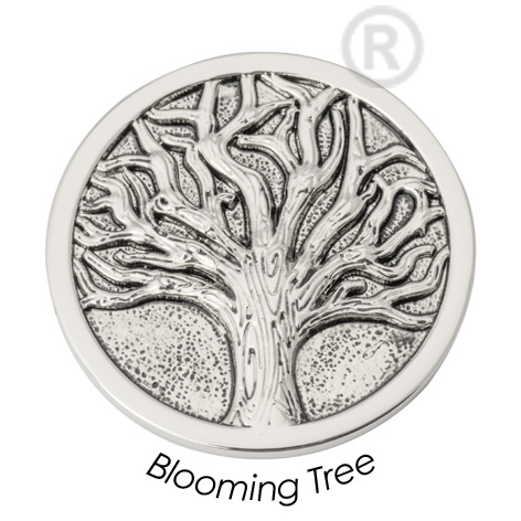 Quoins QMB-26L-E Black Label Blooming Tree staal zilverkleurig Large