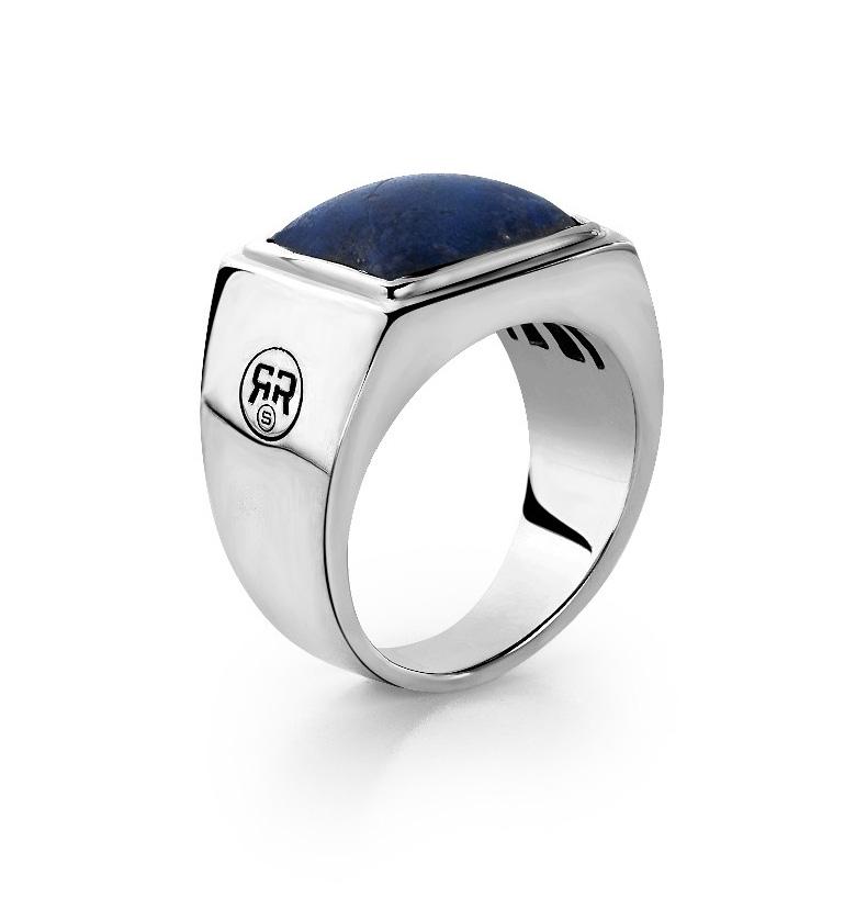 Rebel and Rose RR-RG005-S Ring Square Lapis zilver-blauw Maat 66