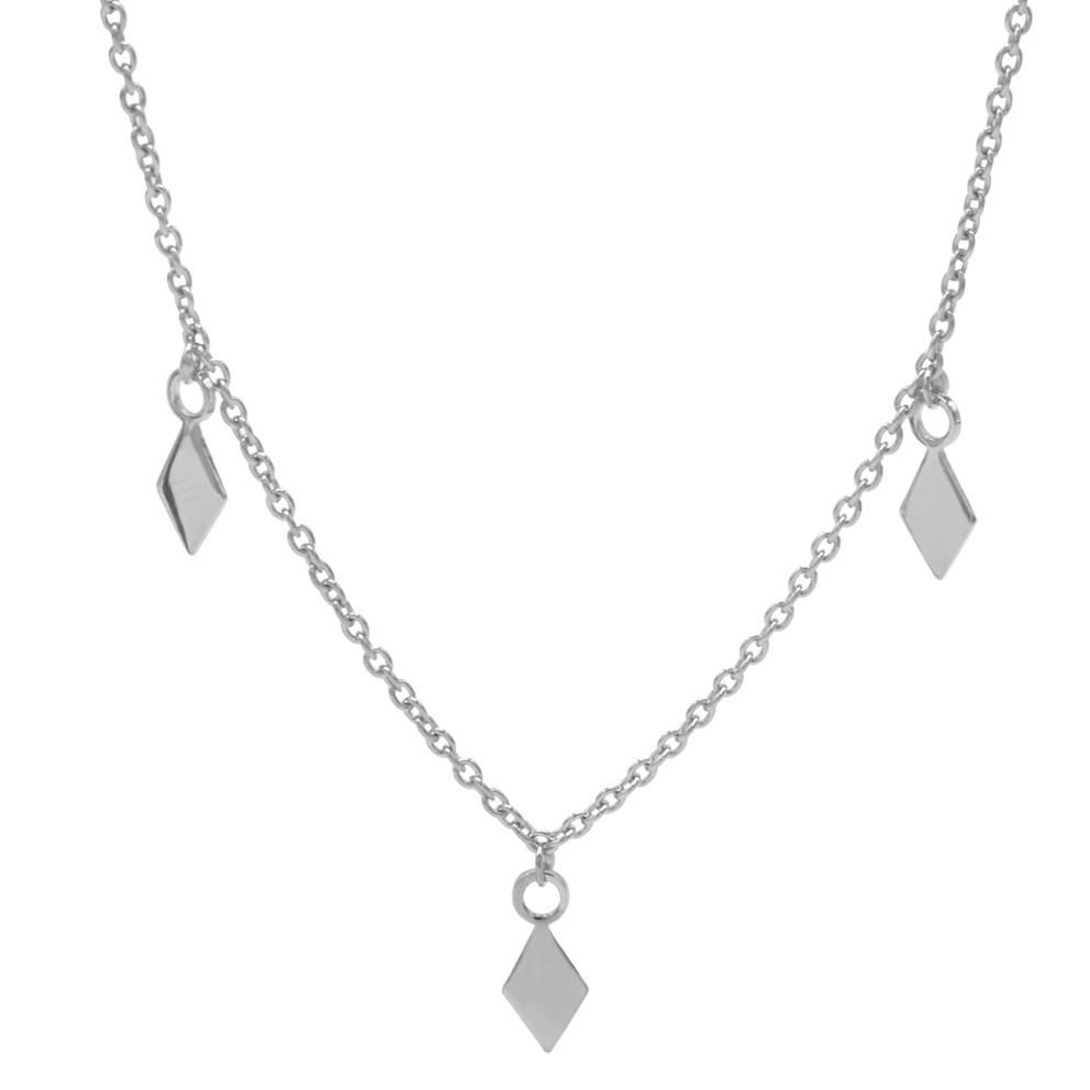 Karma T188-S-38-45 Ketting 3 Diamonds zilver 38-45 cm