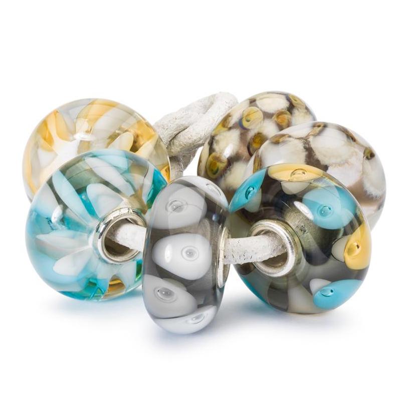 Trollbeads TGLBE 00162 Set Kralen Wegdrijven zilver glas