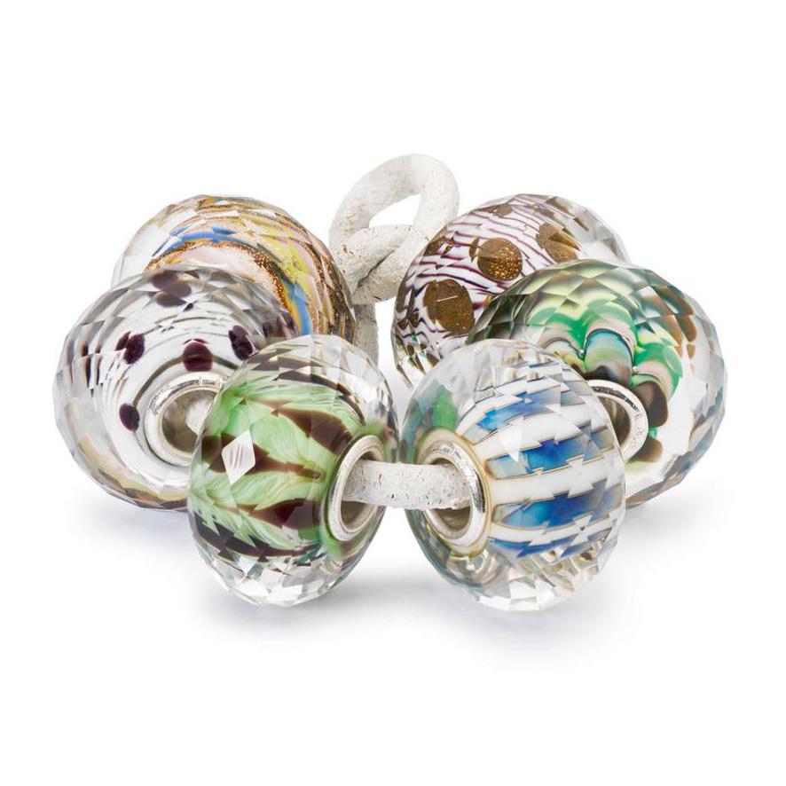 Trollbeads TGLBE-00163 Set Kralen Nieuwe Avonturen zilver-glas