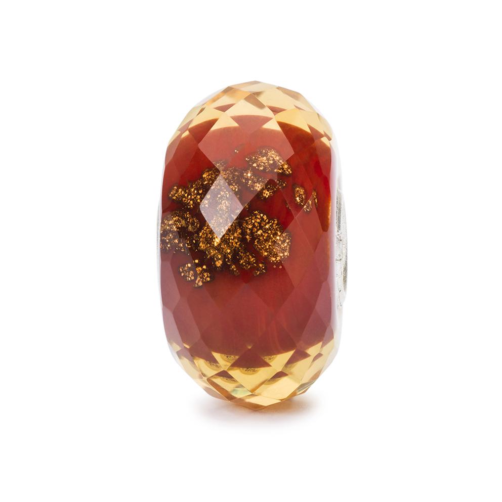 Trollbeads TGLBE-30037 Kraal Rode Flonkering zilver/glas