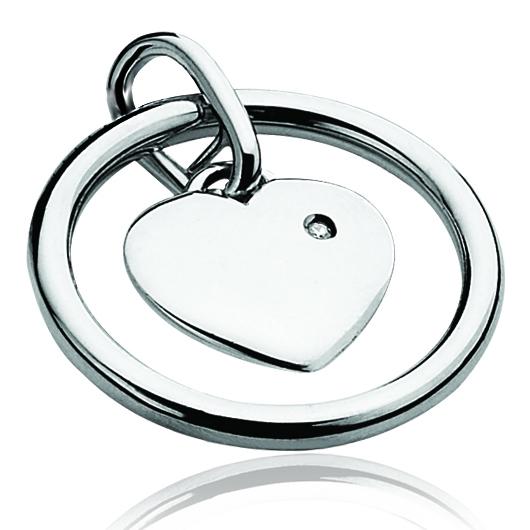 Zinzi Diamonds ZDH54 Hanger Hart zilver-diamant wit 45 x 2,5 x 24,5 mm