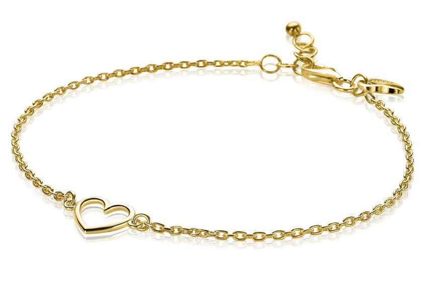 Zinzi Armband zilver Hart goudkleurig 18,5-20,5 cm ZIA1420G