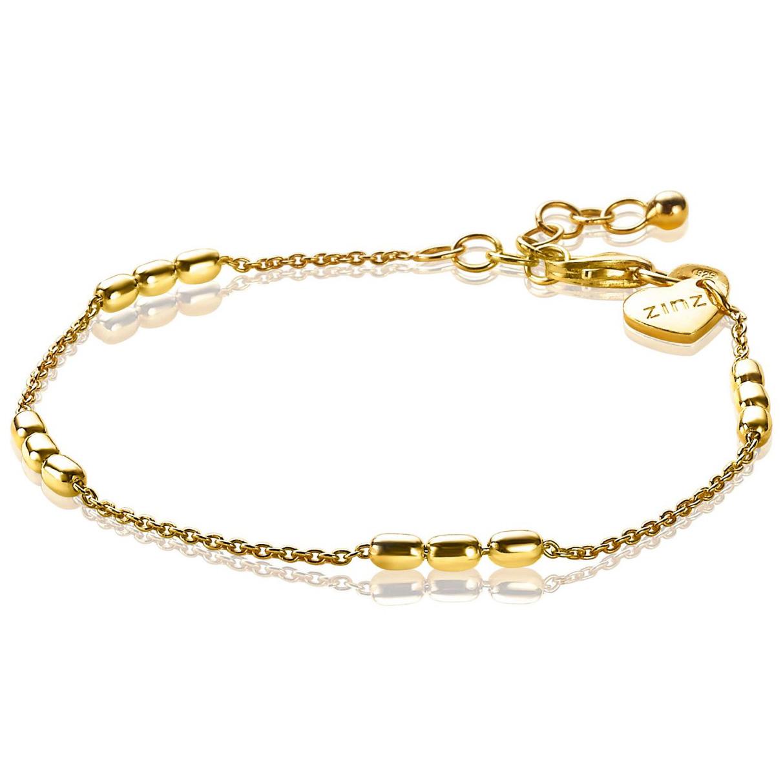 Zinzi ZIA1809G Armband Ovaal zilver goudkleurig 17-20 cm
