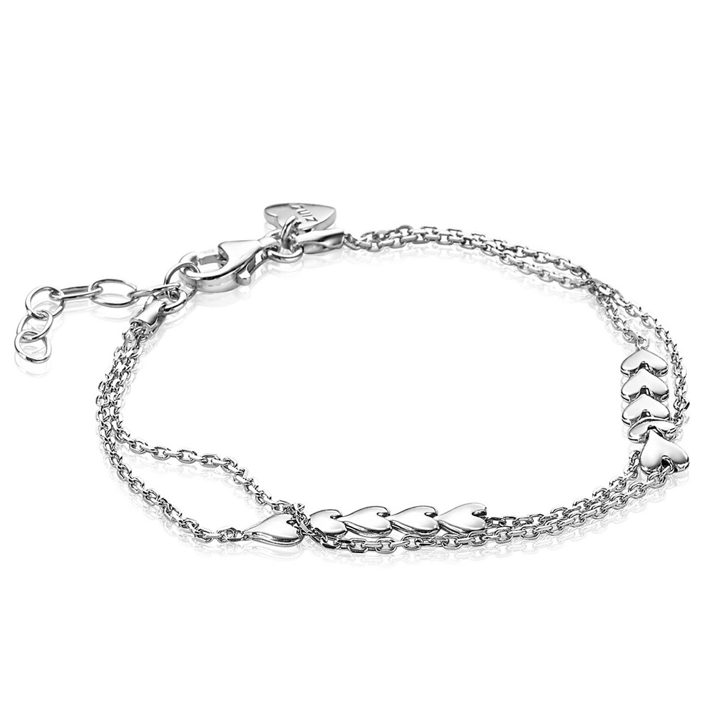 Zinzi ZIA1940 Armband Hartjes zilver 16 19,5 cm