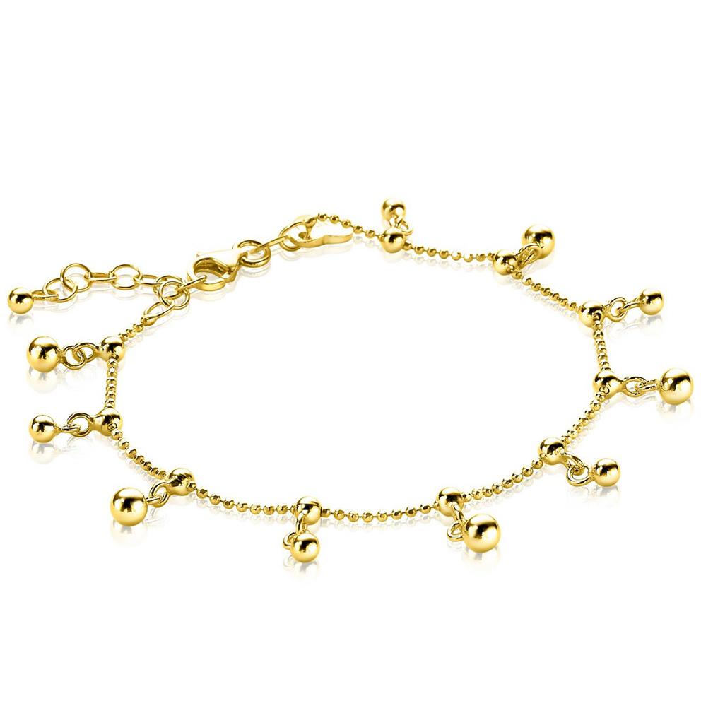 Zinzi ZIA1985G Armband Bedeltjes zilver goudkleurig 17-19 cm