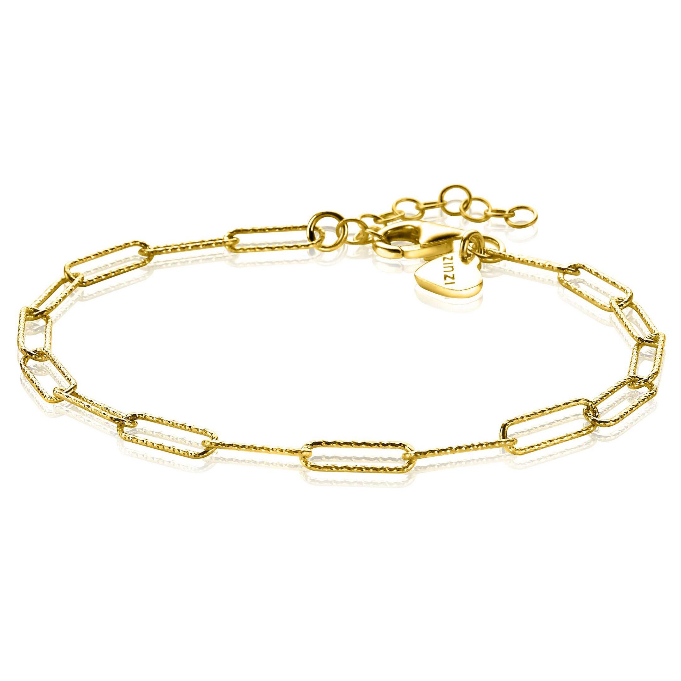 Zinzi ZIA1992G Armband Ovaal zilver goudkleurig 18 20 cm
