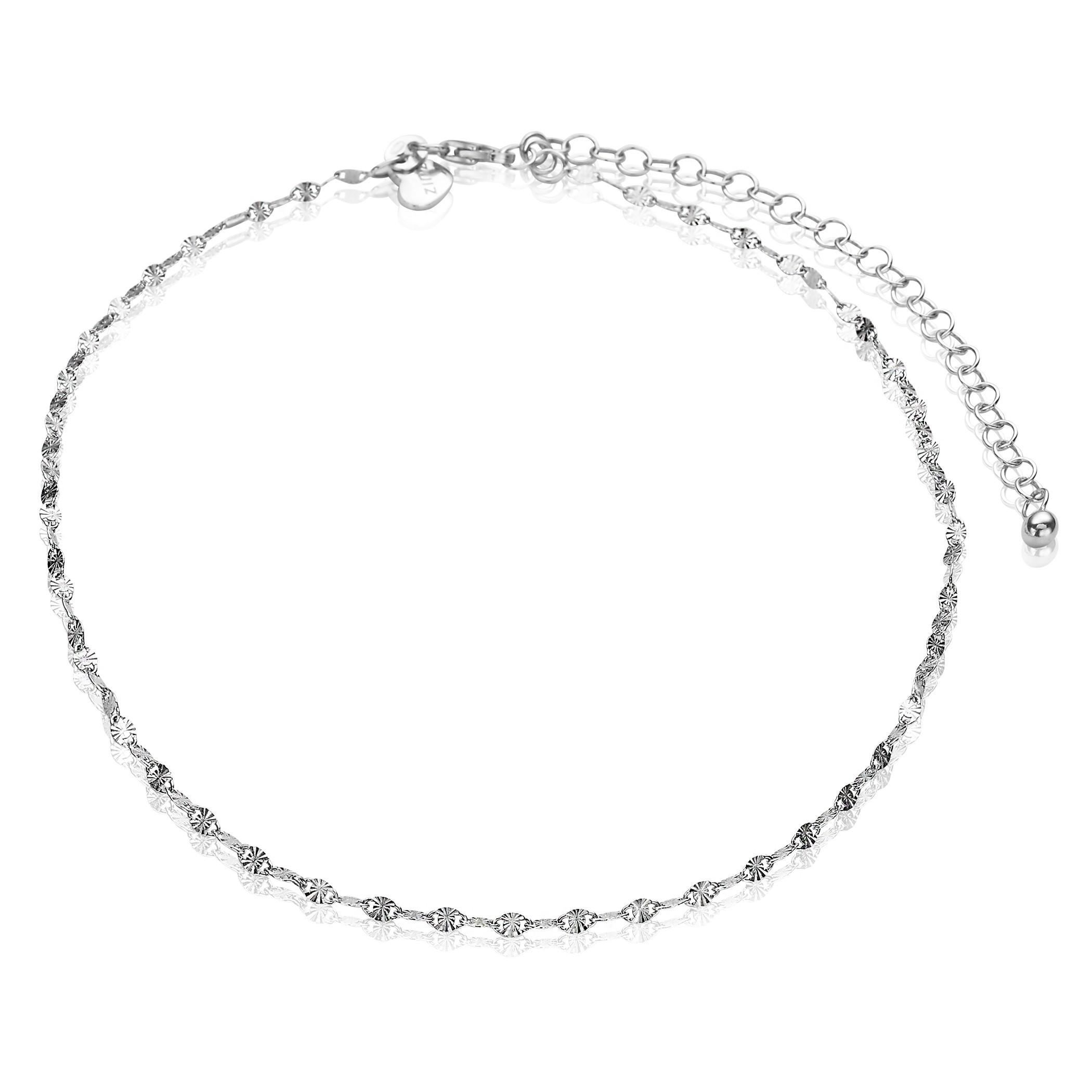 Zinzi ZIE1458 Enkelbandje zilver gediamanteerd 23-27 cm