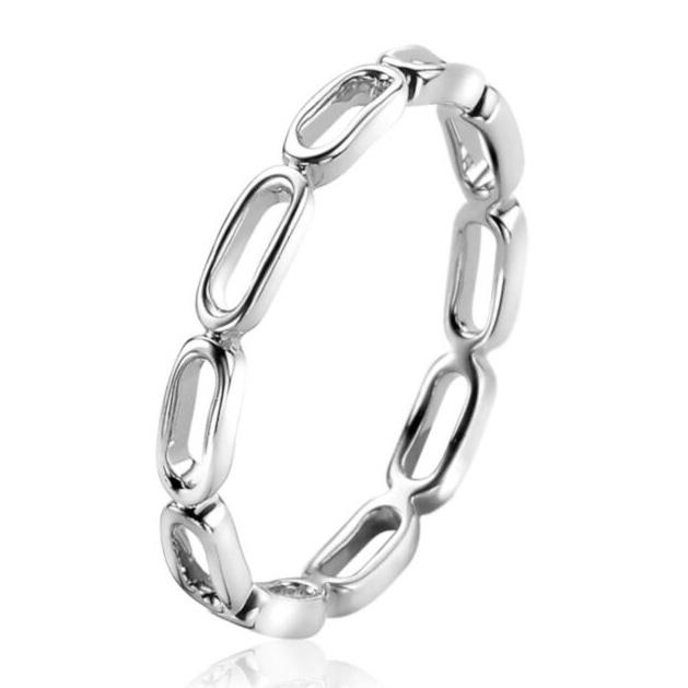 Zinzi ZIR2035 Ring Paperclip zilver Maat 56