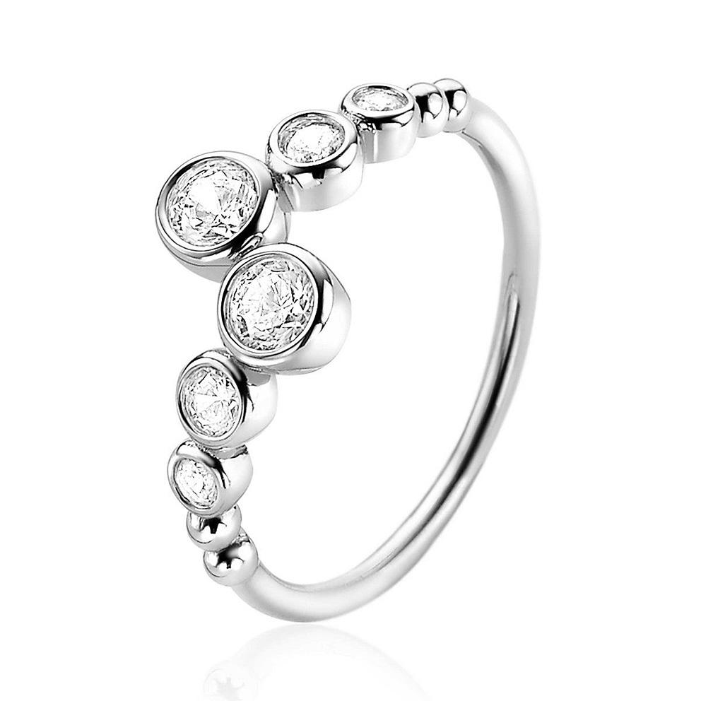 Zinzi ZIR2054 Ring zilver met zirconia Maat 50