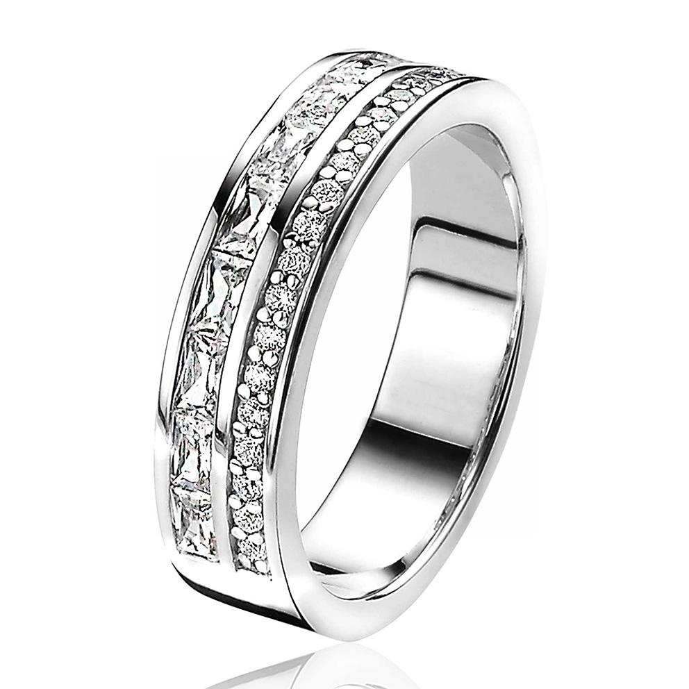 Zinzi ZIR2118 Ring Luxe zilver zirconia Maat 56