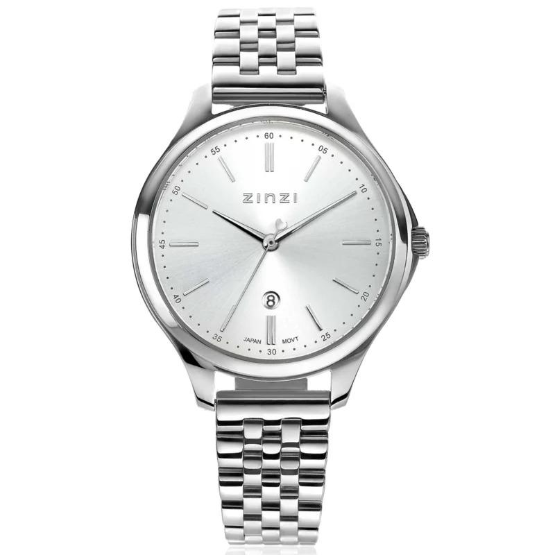 Zinzi ZIW1002 Horloge Classy gratis armband zilverkleurig 34 mm