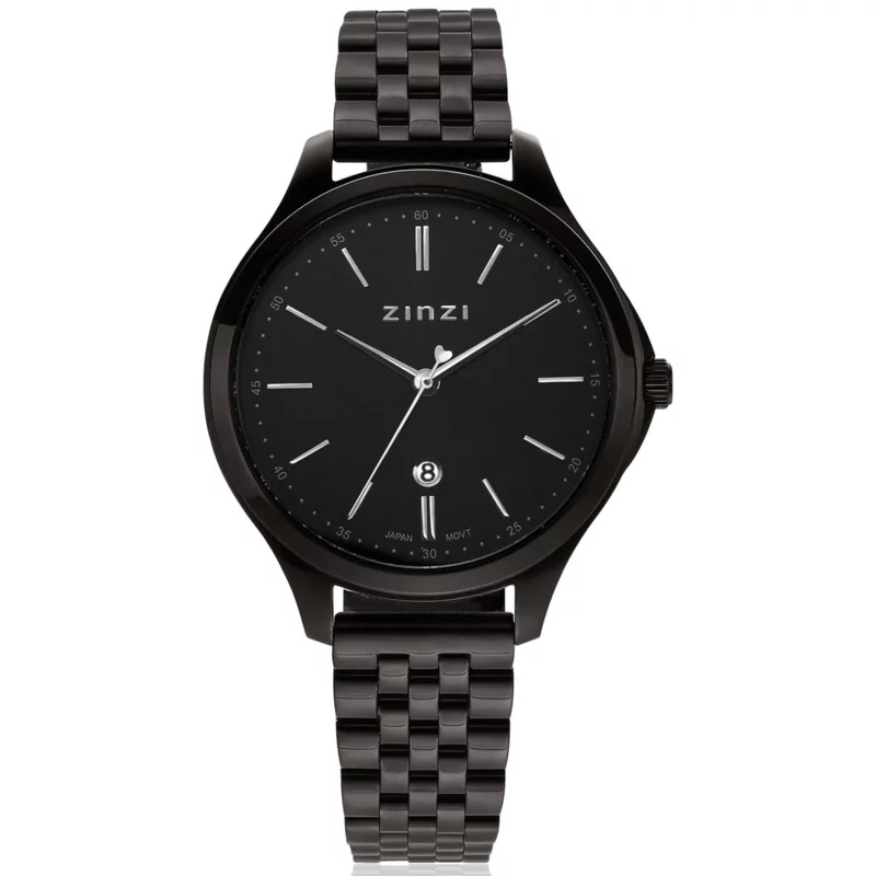Zinzi ZIW1037 Horloge Classy + gratis armband zwart 34 mm